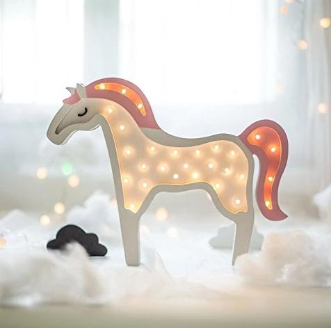Wooden Unicorn LED Night Light For Children
