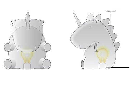 unicorn night light by smoko (White) - drawing