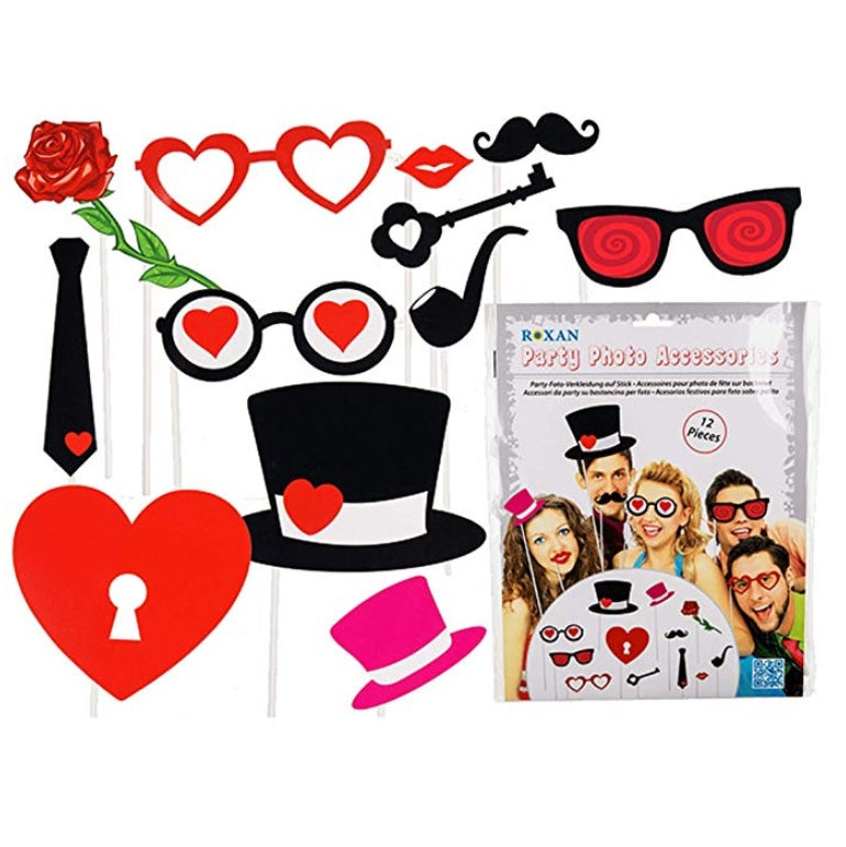 Valentine Themed Party Photo Accessories by Out Of The Blue