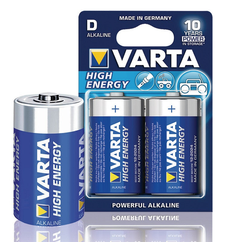 Varta D/LR20 1.5 V High Energy Alkaline Battery (2 Blister)