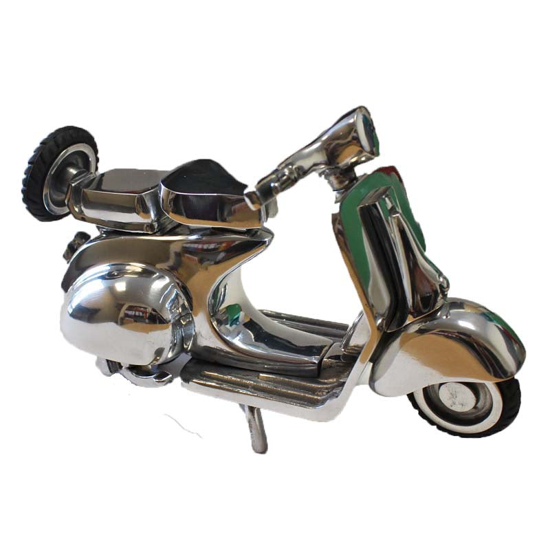 Silver Aluminium Small Vespa Ornament