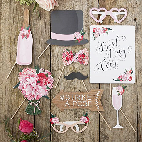 Vintage Style Wedding Photo Booth Props