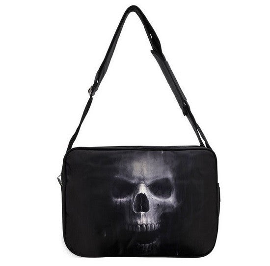 Anne Stokes 'The Watcher' Skull Art Black Side Bag