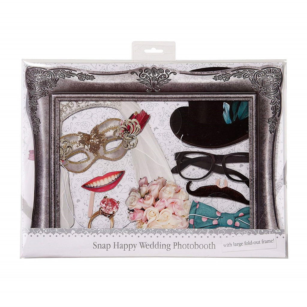 Snap Happy Wedding Photo Booth Accessories Kit by Ginger Ray Packaging