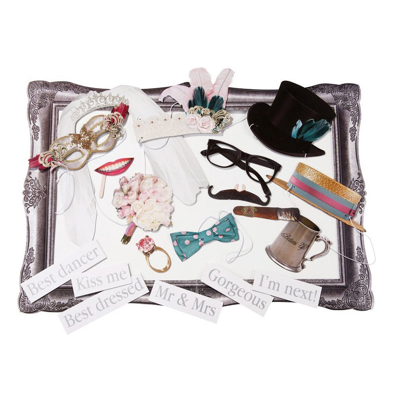 Snap Happy Wedding Photo Booth Accessories Kit by Ginger Ray