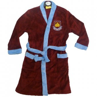 Official West Ham United FC Super Comfy Dressing Gown