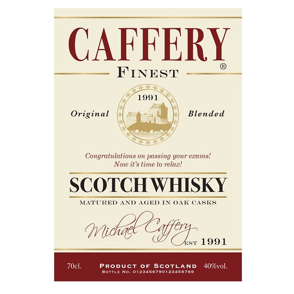 Personalised Generic Labels for Blended Whisky (Pack of 2)