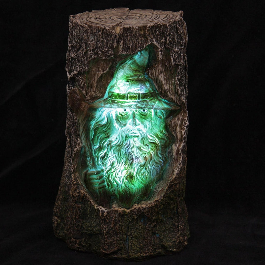 Colour Changing LED Wizard Tree Carving