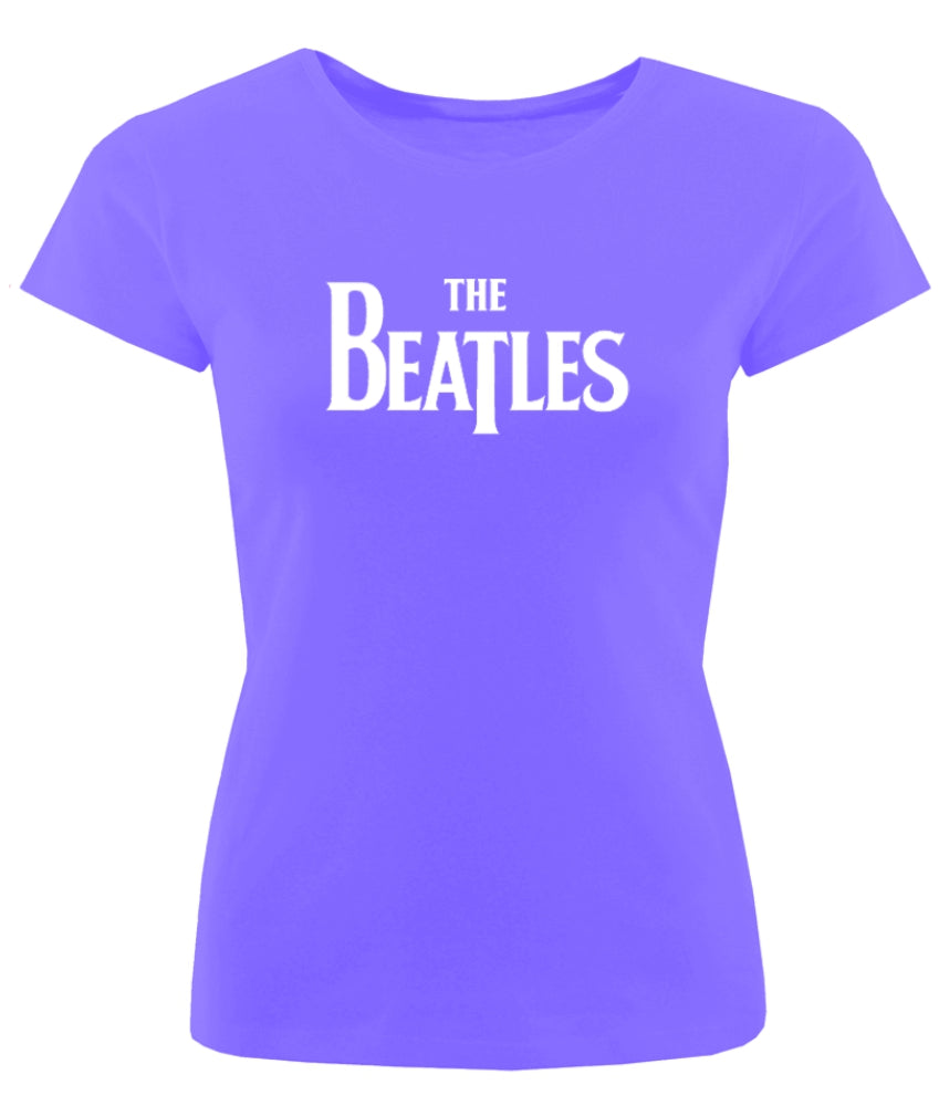 Edit Official Ladies Fitted The Beatles 'Logo' t-shirt in heather purple