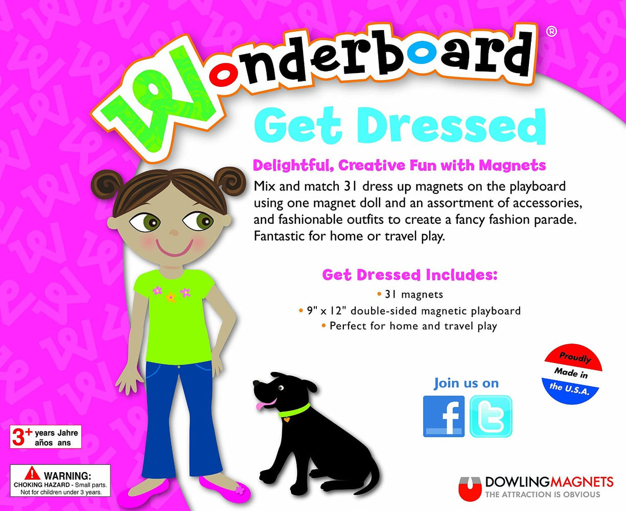 Wonderboard Magentic Play Set - Get Dressed