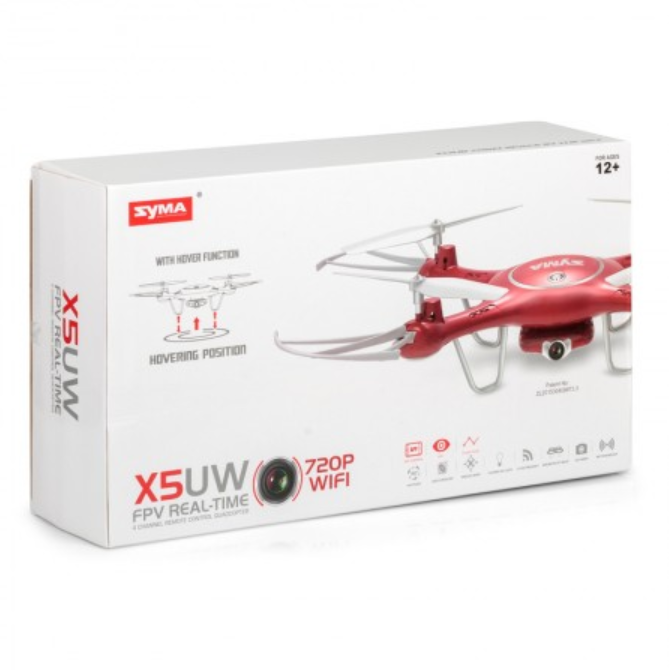 Syma X5UW Red Camera Drone by Tobar Box
