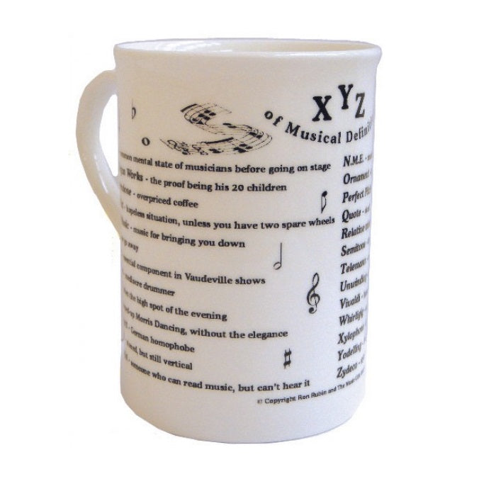 XYZ of Musical Definitions Bone China Mug