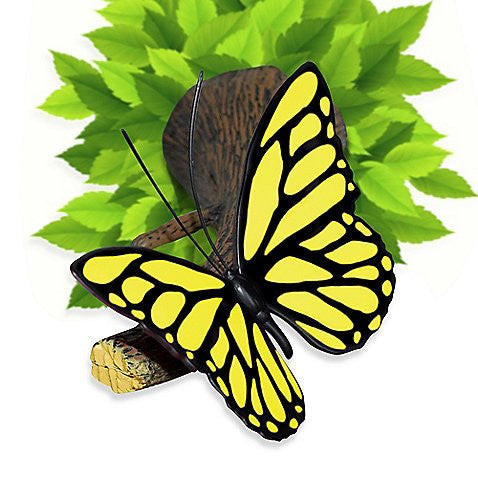 Yellow Butterfly 3D Deco Wall Light