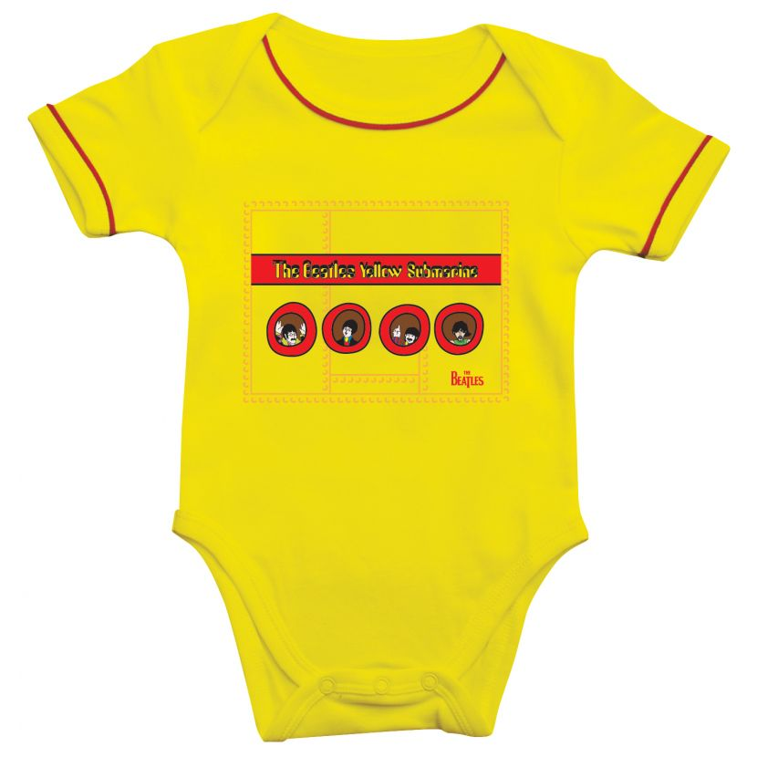 The Beatles Yellow Submarine Short Sleeve Baby Bodysuit
