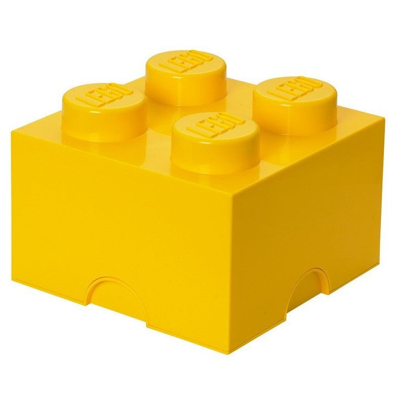 Lego Plastic Storage Brick 4 (Yellow)