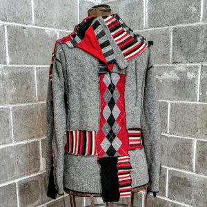 ReMade Sweater Red/Gray #2
