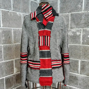 ReMade Sweater Red/Gray #3