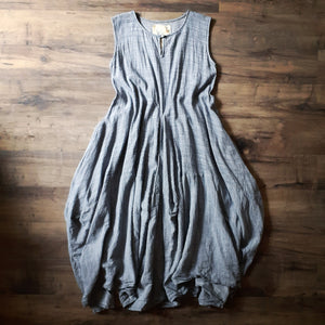 Kajsa Dress In Blue/ Gray Dot