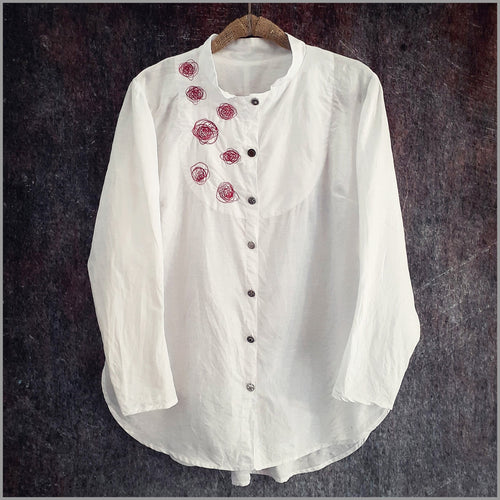 Katja Tux-Shirt with RedWork