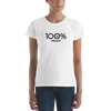 100% VEGAN Women's Short Sleeve Tee - 100 Percent Tee Company