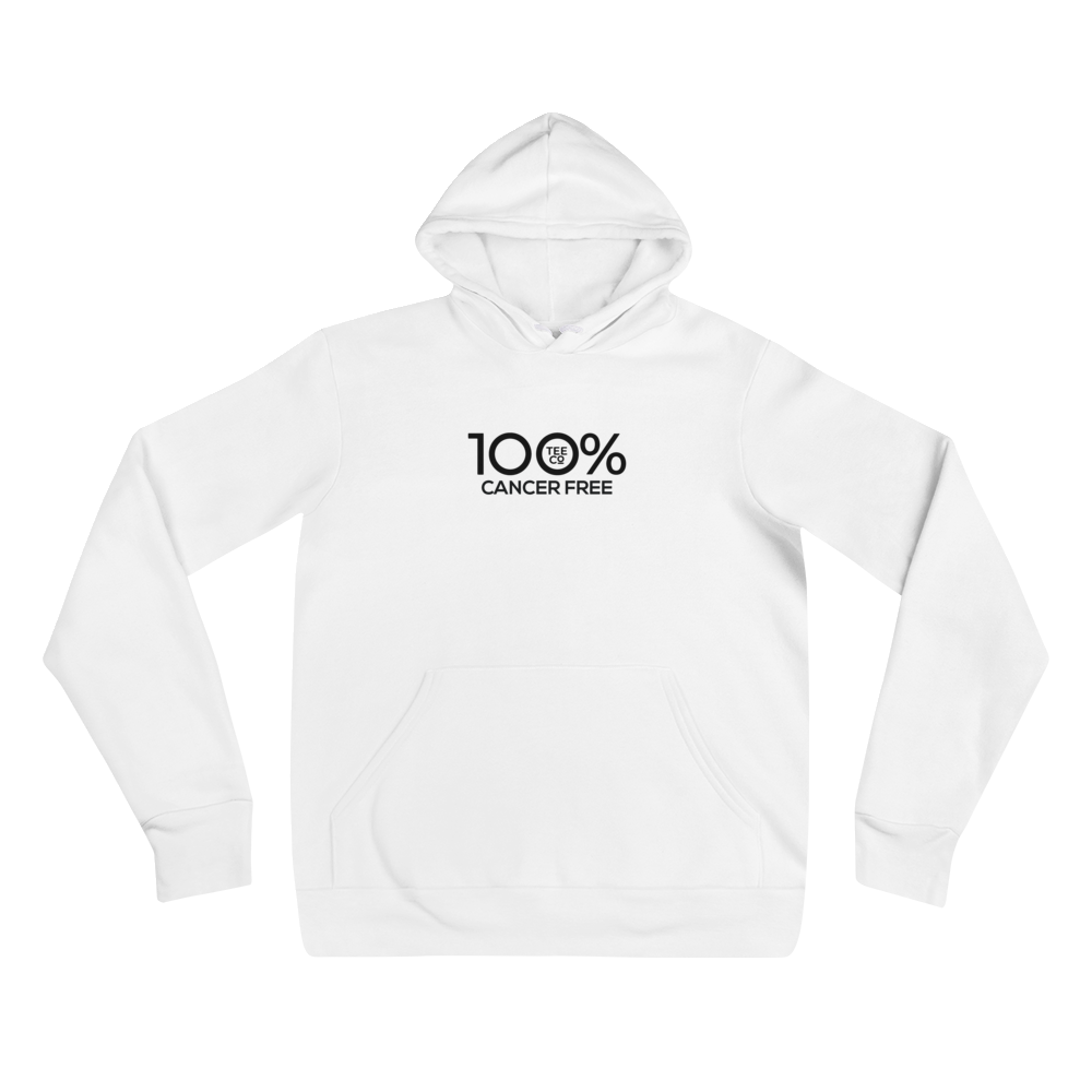 100% CANCER FREE Unisex Hoodie - 100 Percent Tee Company
