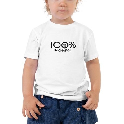 100% IN CHARGE Toddler Short Sleeve Tee - 100 Percent Tee Company
