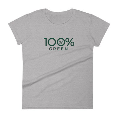 100% GREEN Women's Short Sleeve Tee - 100 Percent Tee Company