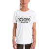 100% MONSTER Youth Short Sleeve Tee - 100 Percent Tee Company