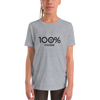 100% FOODIE Youth Short Sleeve Tee - 100 Percent Tee Company