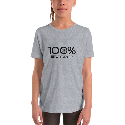 100% NEW YORKER Youth Short Sleeve Tee - 100 Percent Tee Company