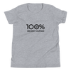 100% DECENT HUMAN Youth Short Sleeve Tee - 100 Percent Tee Company