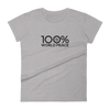 100% WORLD PEACE Women's Short Sleeve Tee - 100 Percent Tee Company