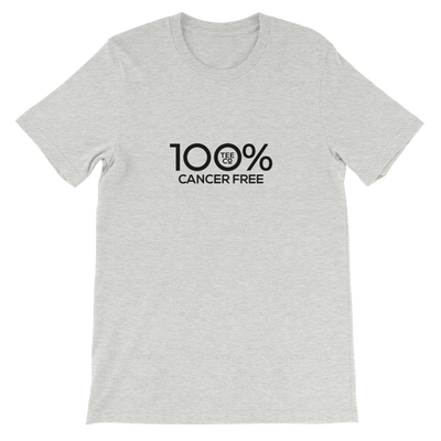 100% CANCER FREE Short-Sleeve Unisex Tee - 100 Percent Tee Company