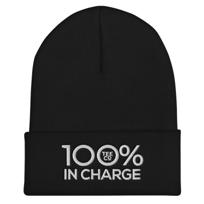100% IN CHARGE Cuffed Beanie - 100 Percent Tee Company