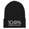 100% SQUAW VALLEY Cuffed Beanie - 100 Percent Tee Company