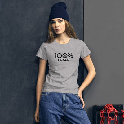 100% PEACE Women's Short Sleeve Tee - 100 Percent Tee Company