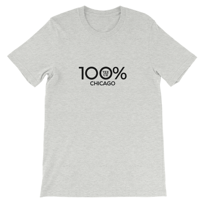 100% CHICAGO Short-Sleeve Unisex Tee - 100 Percent Tee Company