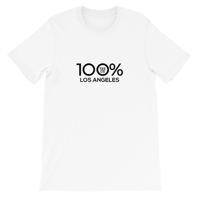 100% LOS ANGELES Short-Sleeve Unisex Tee - 100 Percent Tee Company