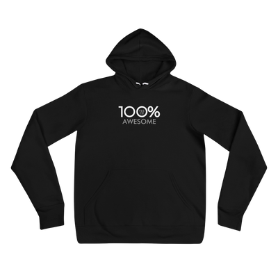 100% AWESOME Unisex Hoodie - 100 Percent Tee Company