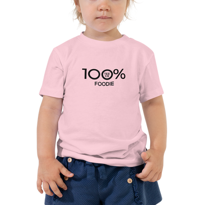 100% FOODIE Toddler Short Sleeve Tee - 100 Percent Tee Company