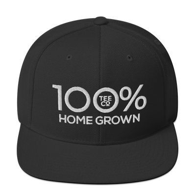 100% HOME GROWN Snapback Hat - 100 Percent Tee Company