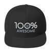 100% AWESOME Snapback Hat - 100 Percent Tee Company
