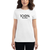 100% BLESSED Women's Short Sleeve Tee - 100 Percent Tee Company