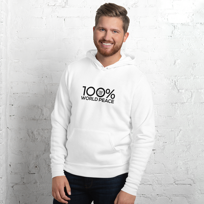 100% WORLD PEACE Unisex Hoodie - 100 Percent Tee Company