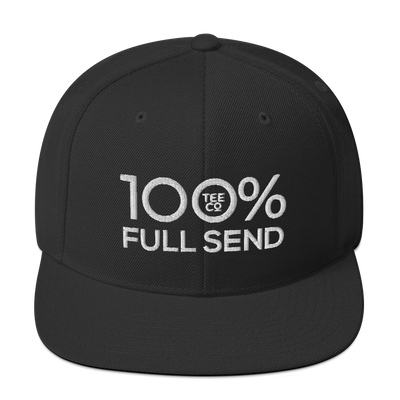 100% FULL SEND Snapback Baseball Hat - 100 Percent Tee Company
