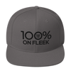 100% ON FLEEK Snapback Hat - 100 Percent Tee Company