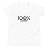 100% BLESSED Youth Short Sleeve T-Shirt - 100 Percent Tee Company