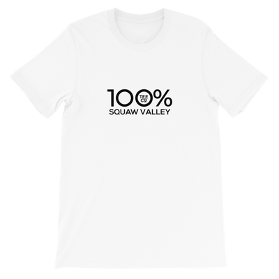 100% SQUAW VALLEY Short-Sleeve Unisex Tee - 100 Percent Tee Company