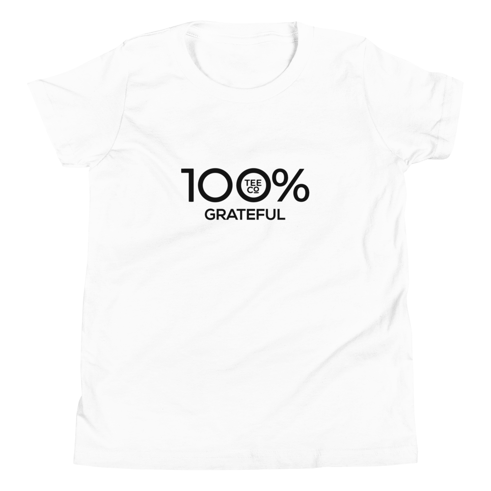 100% GRATEFUL Youth Short Sleeve Tee - 100 Percent Tee Company