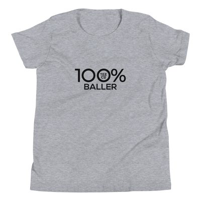 100% BALLER Youth Short Sleeve Tee - 100 Percent Tee Company
